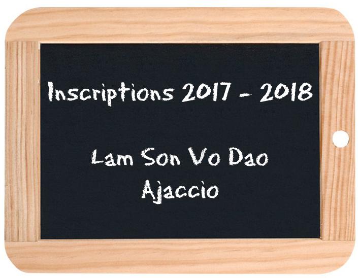 Lam Son Vo Dao Ajaccio - Rentrée 2017-2018